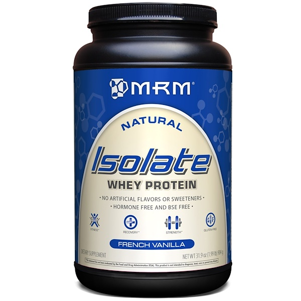 MRM, Natural Isolate Whey Protein, French Vanilla, 3.19 oz (904 g)