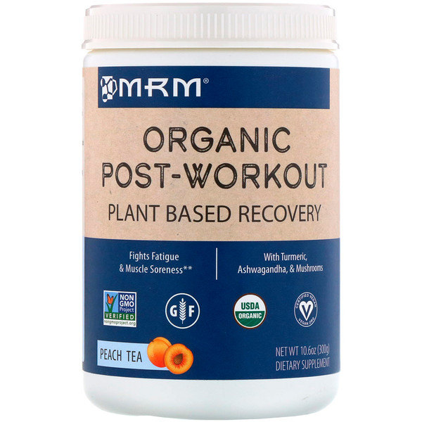 MRM, Organic Post-Workout, Peach Tea, 10.6 oz (300 g)