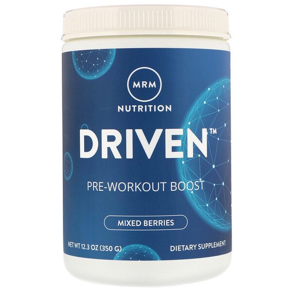 DRIVEN, Pre-Workout Boost, Mixed Berries, 12.3 oz (350 g)