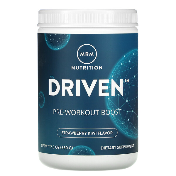 MRM, DRIVEN, Pre-Workout Boost, Strawberry Kiwi, 12.3 oz (350 g)