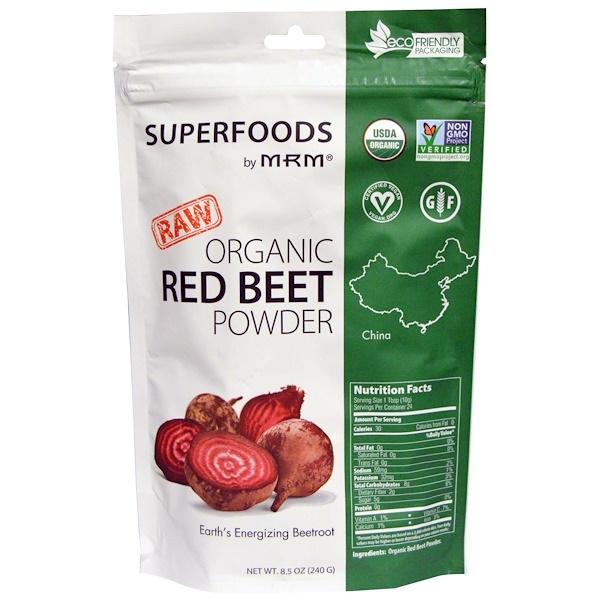 MRM, Organic Red Beet Powder, 8.5 oz (240 g)