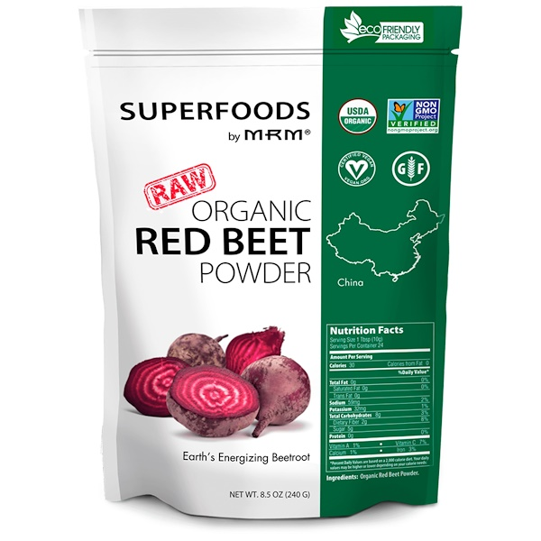 Raw Organic Red Beet Powder, 8.5 oz (240 g)