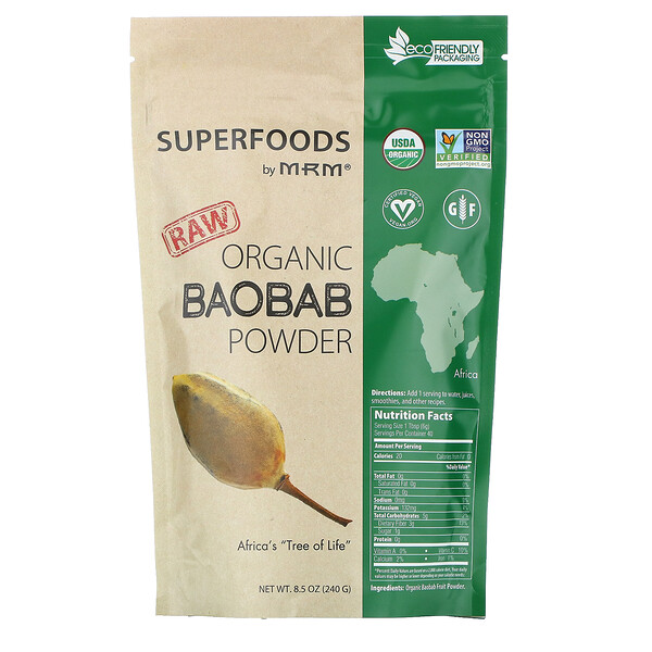 MRM, Raw Organic Baobab Powder, 8.5 oz (240 g)
