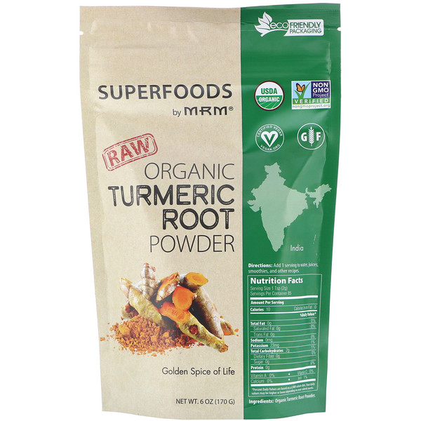 RAW Organic Turmeric Root Powder, 6 oz (170 g)