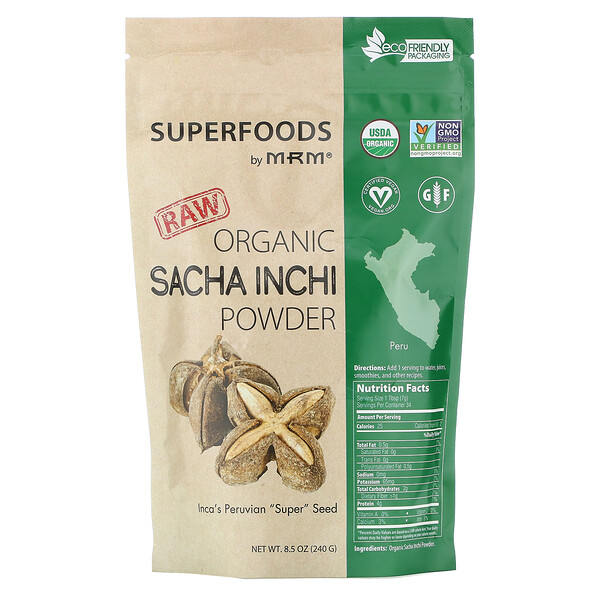 MRM, Raw Organic Sacha Inchi Powder, 8.5 oz (240 g)