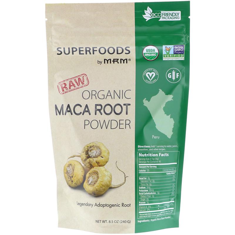 Raw Organic Maca Root Powder, 8.5 oz (240 g)