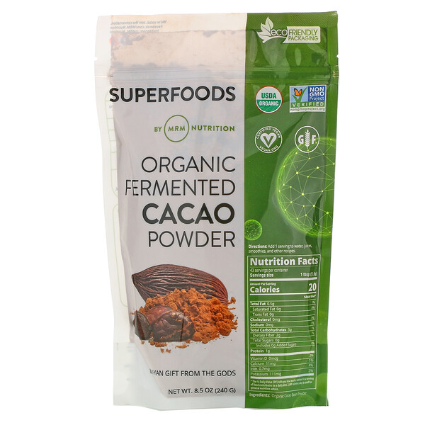 Organic Fermented Cacao Powder, 8.5 oz (240 g)