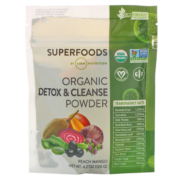 Organic Detox & Cleanse Powder, 4.2 oz (120 g)