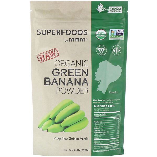 MRM, Raw Organic Green Banana Powder, 8.5 oz (240 g)