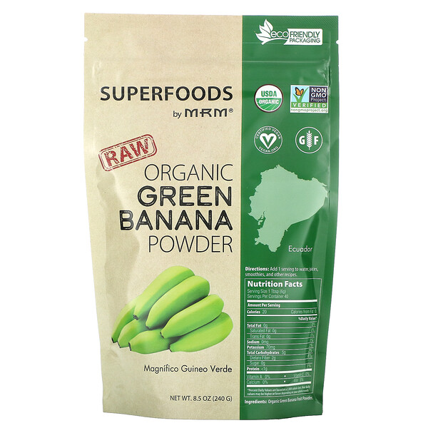 Raw Organic Green Banana Powder, 8.5 oz (240 g)
