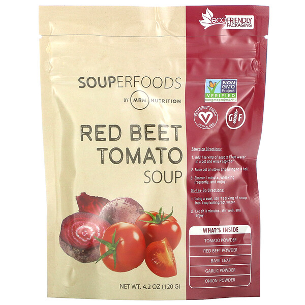 Souperfoods, Red Beet Tomato Soup, 4.2 oz (120 g)