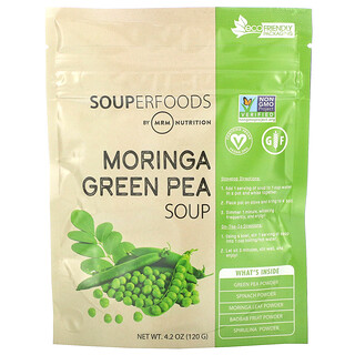 MRM, スーパーフーズ、モリンガグリーンピーススープ、120g(4.2オンス)