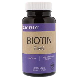 MRM, ビオチン、5 mg、60ベジカプセル
