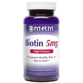 MRM, Biotin, 5 mg, 60 Veggie Caps