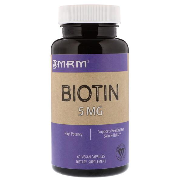 MRM, Biotin, 5 mg, 60 Vegan Capsules (Discontinued Item)