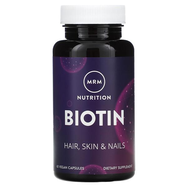 MRM, Biotin, 60 Vegan Capsules
