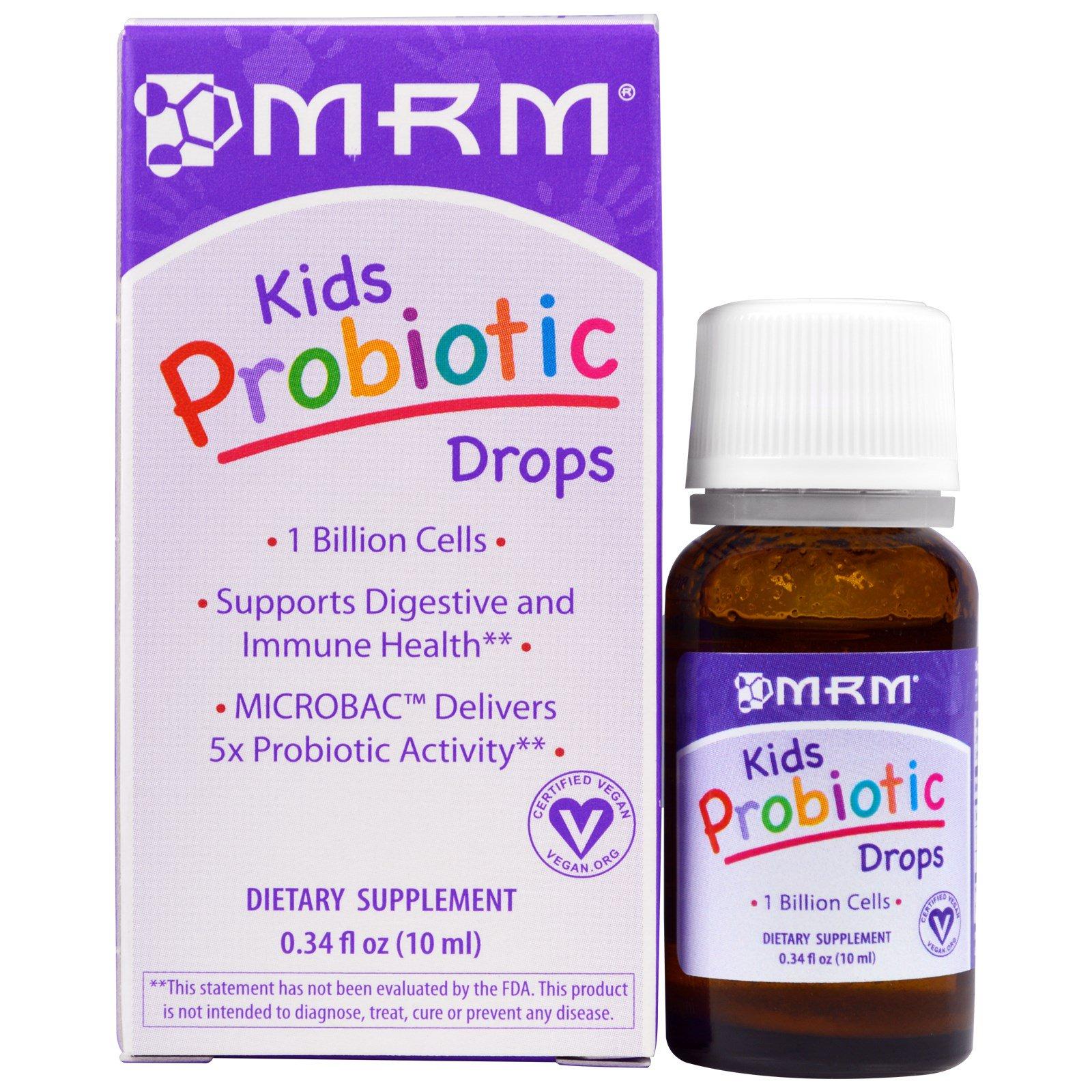 MRM, Пробиотические капли для детей, 0,34 жидкие унции (10 мл)