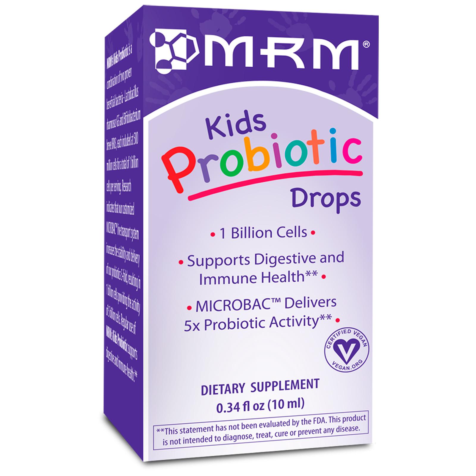 Mrm قطارة البروبيوتيك للأطفال 0 34 أونصة سائلة 10 ملم Iherb