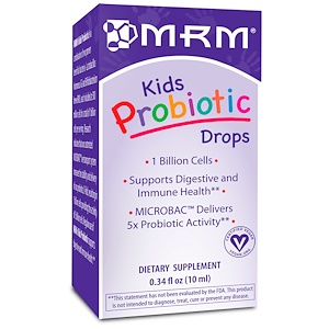 МРМ, Kids Probiotic Drops, 0.34 fl oz (10 ml) отзывы покупателей