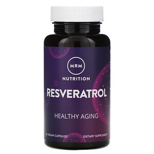 МРМ, Nutrition, Resveratrol, 60 Vegan Capsules отзывы покупателей