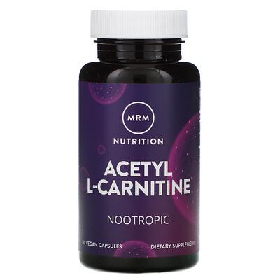 Купить MRM Nutrition, ацетил-L-карнитин, 60веганских капсул