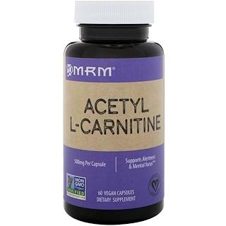 MRM, Acétyl L-Carnitine, 500 mg, 60 gélules véganes
