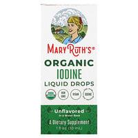 MaryRuth Organics, Organic Iodine Liquid Drops, Unflavored, 1 fl oz (30 ml)