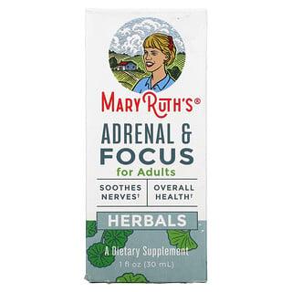 MaryRuth Organics, Herbals, Adrenal & Focus For Adults, 1 fl oz (30 ml)