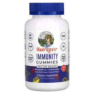 MaryRuth Organics, Immunity Gummies, Pectin Based, Raspberry Lemonade, 90 Gummies