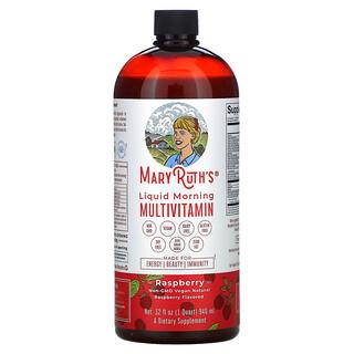 MaryRuth Organics, Liquid Morning Multivitamin, Raspberry, 32 fl oz (946 ml)