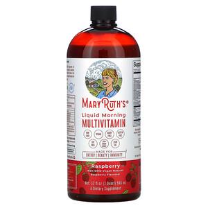 MaryRuth Organics, Liquid Morning Multivitamin, Raspberry, 32 fl oz (946 ml)'