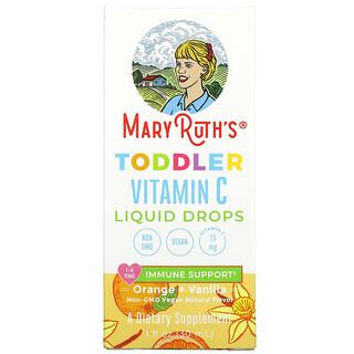 MaryRuth Organics, Toddler Vitamin C Liquid Drops, 1-3 Years, Orange + Vanilla, 1 fl oz (30 ml)
