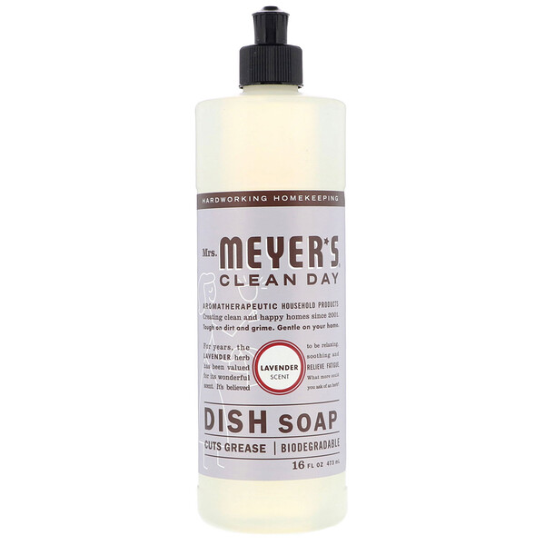 Dish Soap, Lavender Scent, 16 fl oz (473 ml)
