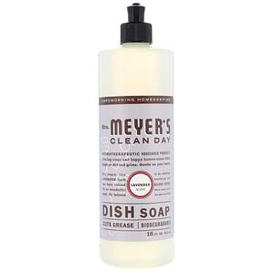 Мрс Мэйерс Клин Дэй, Dish Soap, Lavender Scent, 16 fl oz (473 ml) отзывы покупателей