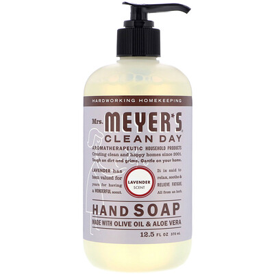 Mrs. Meyers Clean Day Hand Soap, Lavender Scent, 12.5 fl oz (370 ml)