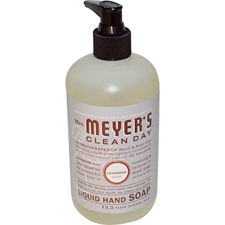 Mrs. Meyers Clean Day, Liquid Hand Soap, Lavender Scent, 12.5 fl oz (370 ml)