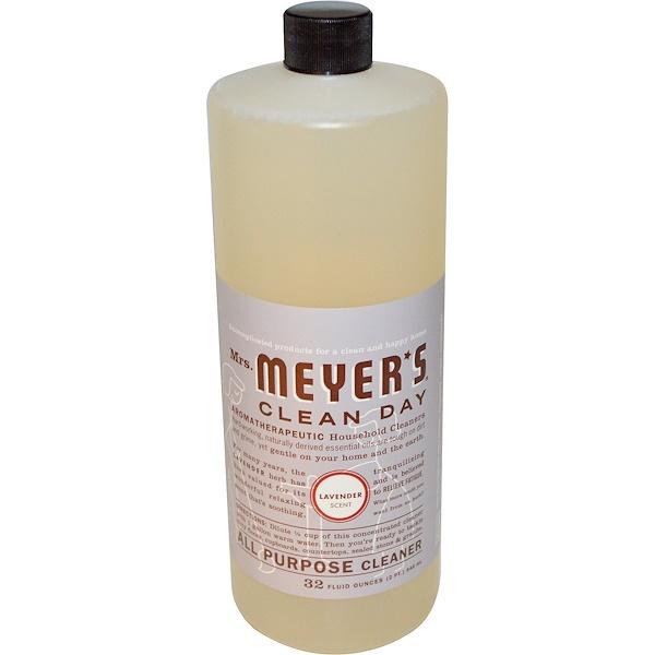 Mrs. Meyers Clean Day, Универсальное Очищающее Средство, Аромат Лаванды 32 жидких унции (946 мл) (Discontinued Item)