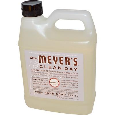 Mrs. Meyers Clean Day 薰衣草香洗手液補充裝 , 33液體盎司 (975毫升)
