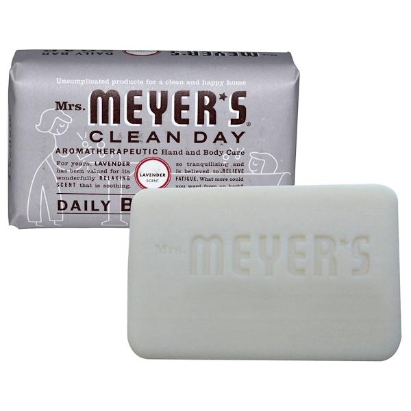 Mrs、 Meyers Clean Day, 日常香皂,薰衣草味,5、3盎司(150克)
