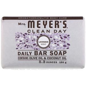 Мрс Мэйерс Клин Дэй, Daily Bar Soap, Lavender Scent, 5.3 oz (150 g) отзывы