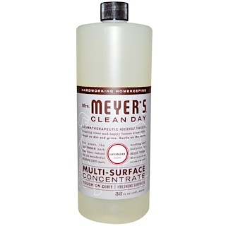 Mrs. Meyers Clean Day, Multi-Surface Concentrate, Lavender Scent, 32 fl oz (946 ml)