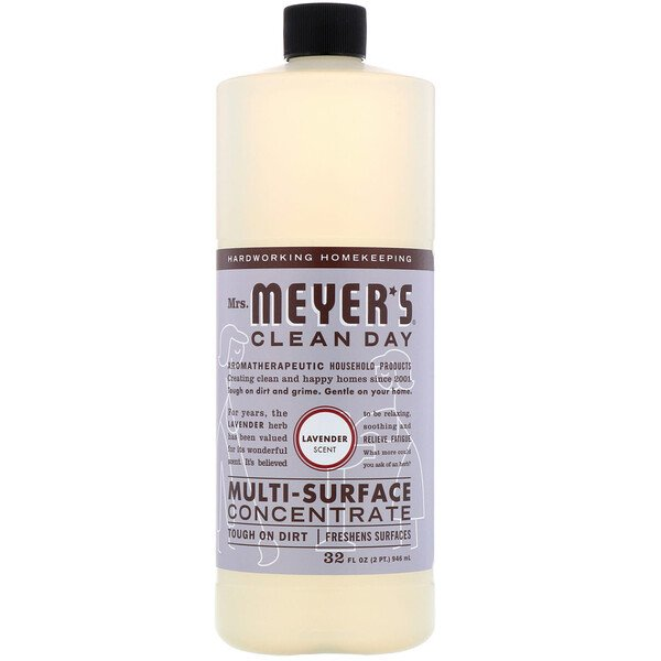 Mrs. Meyers Clean Day, Multi-Surface Concentrate, Lavender Scent, 32 fl oz (946 ml) (Discontinued Item)