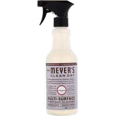 Купить Mrs. Meyers Clean Day Средство для очищения различного рода поверхностей, с запахом лаванды, 16 жидких унций (473 мл)
