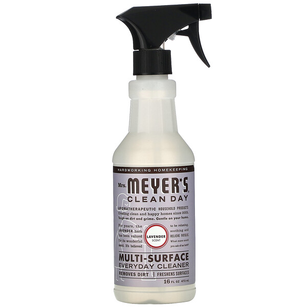 Mrs. Meyers Clean Day, Multi-Surface Everyday Cleaner, Lavender Scent, 16 fl oz (473 ml)