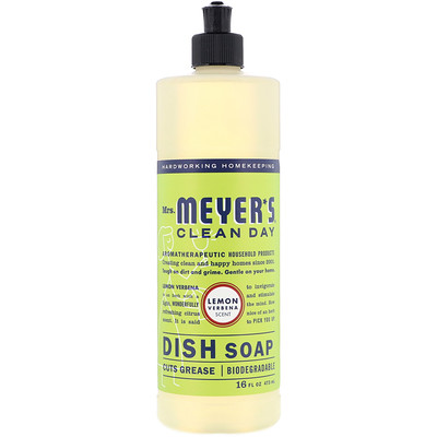 Dish Soap, Lemon Verbena Scent, 16 fl oz (473 ml)