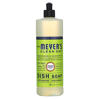 Mrs. Meyers Clean Day, средство для мытья посуды, лимонная вербена, 473мл (16жидк. унций)