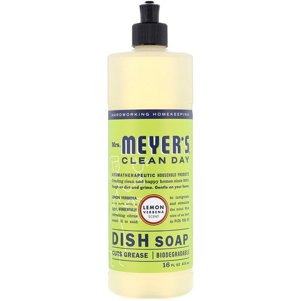 Mrs. Meyers Clean Day, Dish Soap, Lemon Verbena Scent, 16 fl oz (473 ml)