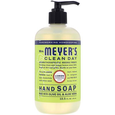 Mrs. Meyers Clean Day Hand Soap, Lemon Verbena Scent, 12.5 fl oz (370 ml)