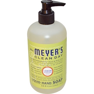 Mrs. Meyers Clean Day, Liquid Hand Soap, Lemon Verbena Scent, 12.5 fl oz (370 ml)