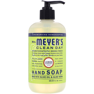 Mrs. Meyers Clean Day, Hand Soap, Lemon Verbena Scent, 12.5 fl oz (370 ml)